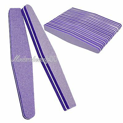10PSC Nail Art Sanding Files Buffing Block Sponge Grit Manicure #100 #180 Purple