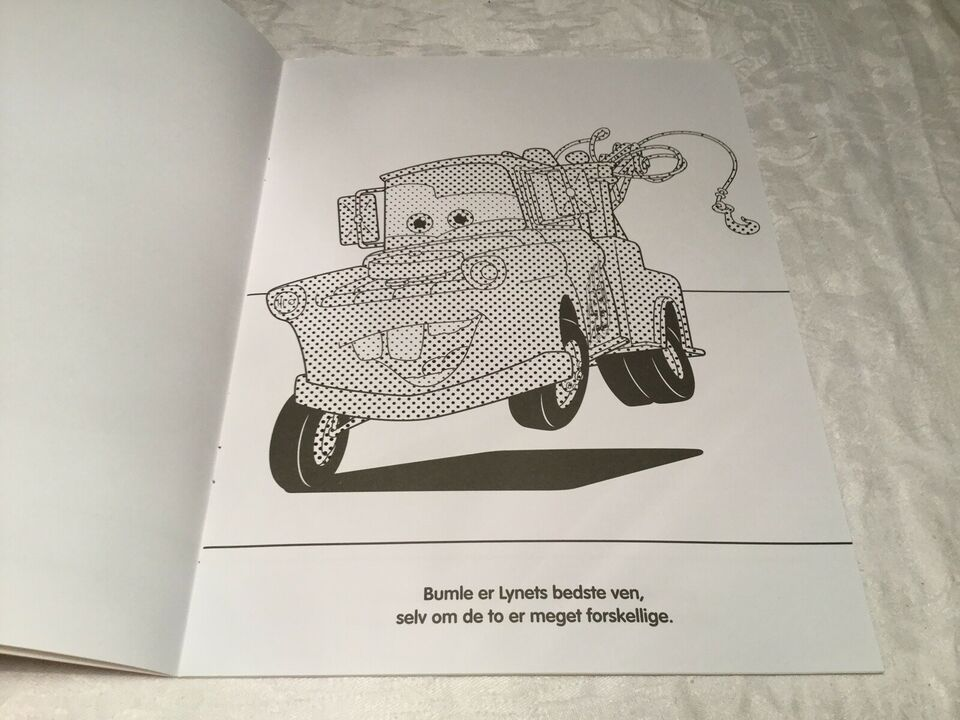 Tegne/male, Biler / Cars malebog, Disney