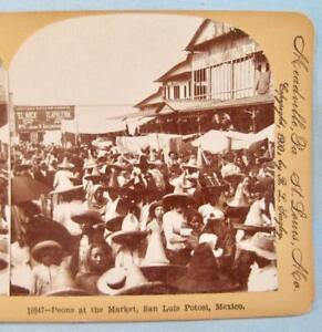 Stereoview-Keystone-View-Co-10847-Peons-At-The-Market-San-Luis-Potosi-Mexico-O