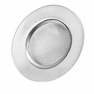 Silver-Stainless-Steel-Bathroom-Kitchen-Mesh-Sink-Drain-Strainer-Filter-Stopper