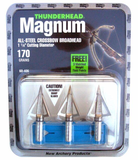 NAP Thunderhead Magnum 170gr Crossbow All-Steel Broadheads 3 Pk US FAST SHIPPING