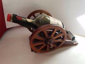 """Decorative Arts Devoted Antique Courvoisier Cognac Brandy Napolean Canon Decanter 14.5""""l Drip-Dry"""