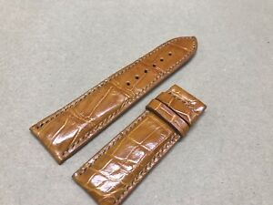 2a48e589d Image is loading 24mm-22mm-Genuine-Alligator-Crocodile-Leather-Watch-Strap-