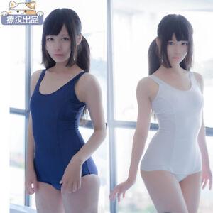 e53eafe325 Image is loading Schoolgirl-Anime-Japan-One-Piece-Swimsuit-School-Uniform-
