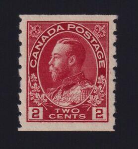 Canada Sc #127 (1912) 2c carmine Admiral Coil Mint VF NH MNH