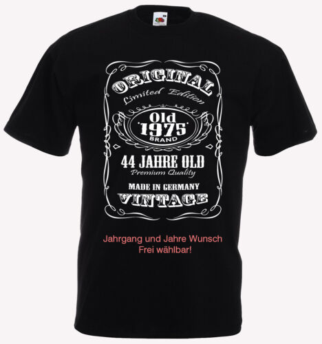 T-Shirt Jahrgang 1940 bis 1990 u Made in Germany Geburtstag Geschenk 28-78 J
