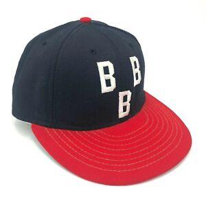 Vintage-Birmingham-Black-Barons-American-Needle-Fitted-Hat-Cap-Triple-B-Blue-Red