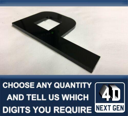 x1 4D Next Gen Laser Cut DIY Number Plate Characters Letter BLACK Letters Kit P