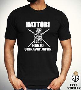Kill Bill T-Shit Mens Hattori Hanzo Top Sword and Sushi Movie Film Samurai Japan