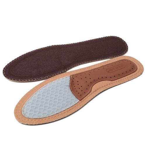 Faux Leather Shoes Insoles Sweat Absorption Care Breathable Insoles Men Women H