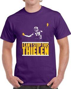 new concept f5618 46932 Details about Adam Thielen Minnesota Football Team I Can't Stop This  Thielen Purple 3 T Shirt