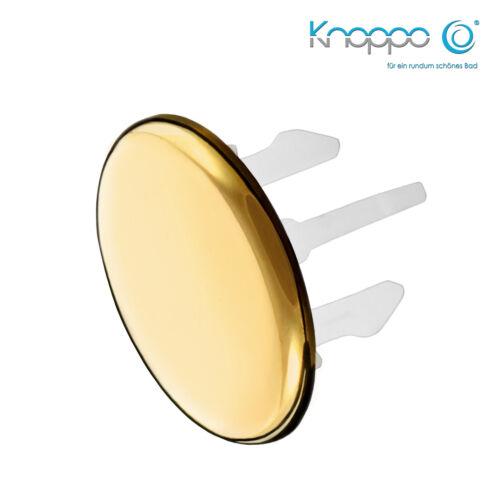 gold KNOPPO® Waschbecken Überlauf Abdeckung Cap Design Überlaufblende
