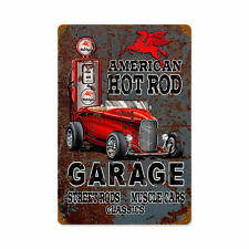 American Hot Rod mobile GAS Street RODS muscle car Retrò LAMIERA SCUDO SCUDO GRANDE
