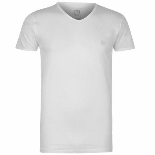 883 Police Mens V Neck T Shirt Tee Top Stretch Print