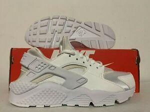 size 40 57aac 732e6 Chargement de l image en cours Nike-Air-Huarache-Run-Femmes-Chaussures -Course-Blanc-