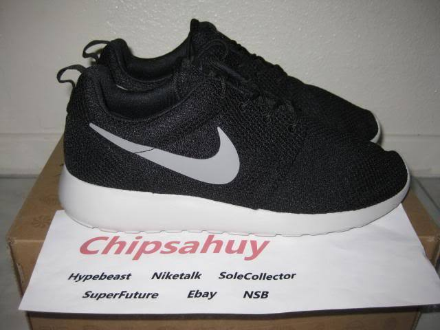Nike Roshe Run One Black Grey silver Mesh Sail shoes Raiders OG New DS Size 8.5