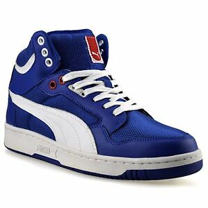 693e558dc7e6 Mens Puma Rebound Mid Ankle Leather Hi Tops Skate Basketball ...