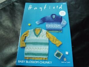 0def25c87 Hayfield Baby Blossom Chunky Sweater and Tank Pattern 4862 Birth to ...