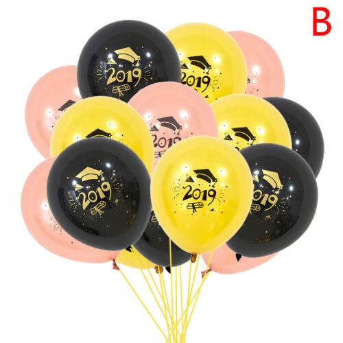 15 stücke Abschluss Latexballons 2019 Konfetti Ballons Abschlussfeier DekoR W0