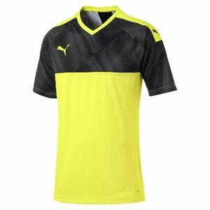 hot sales c7185 896cd Details about Puma Football Soccer Mens Sports Training Short Sleeve SS  Jersey Shirt V Neck
