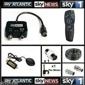 Details about 20M Global TV Link/ 1-2TB Remote & Cable for Viewing Sky In  Another Room