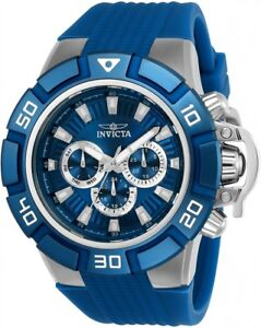 wachawant-Invicta-24386-Force-52mm-Quartz-Blue-Silicone-Dial-Bezel-Men-039-s-Watch