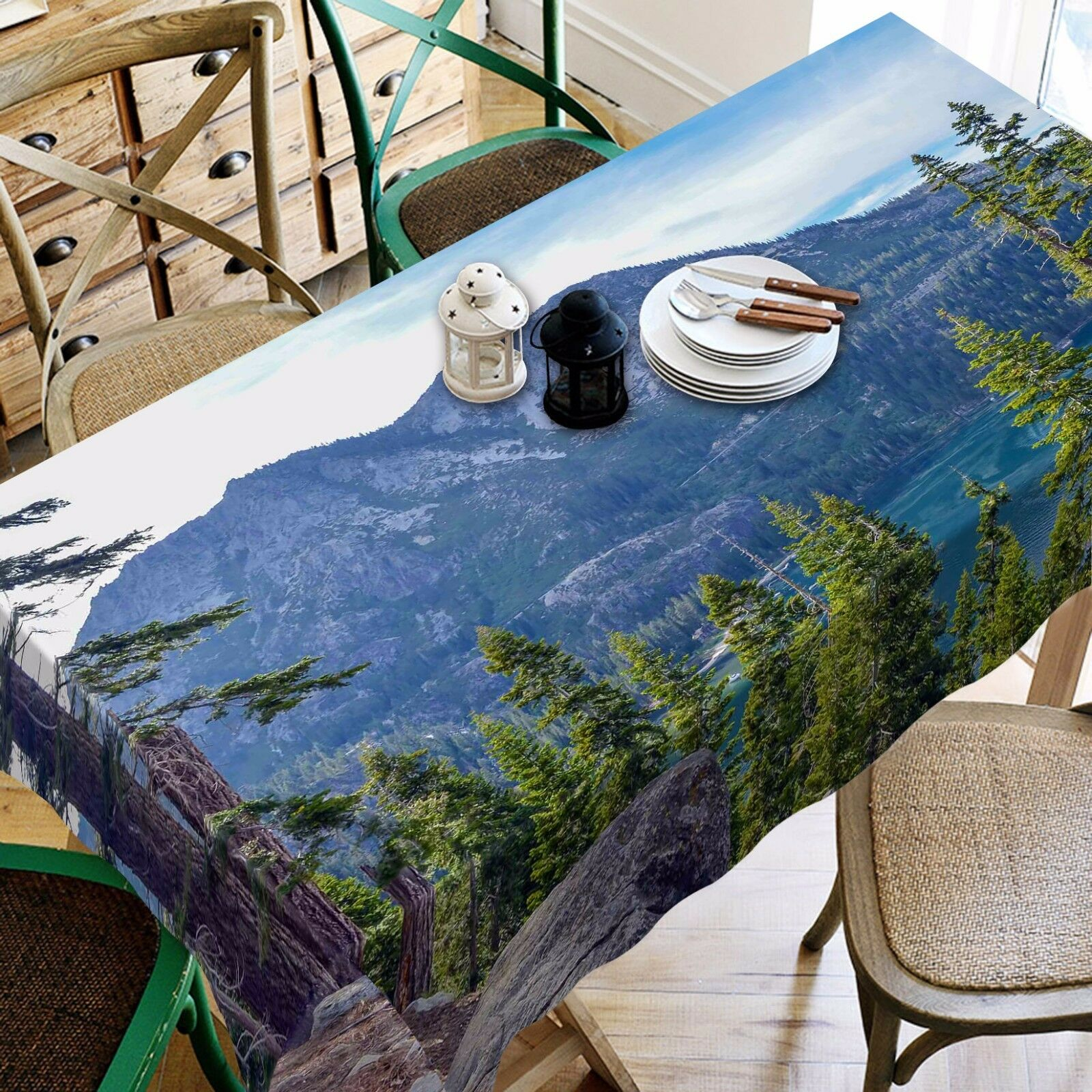 3D Mountain789 Tablecloth Table Cover Cloth Birthday Party Event AJ WALLPAPER AU