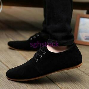 new men's breathable casual lace up moccasin driving shoes