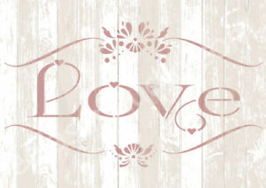 Image Is Loading LOVE Stencil Template Sign Vintage Shabby Chic Wedding