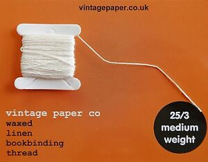 Waxed Bookbinding Thread - Medium Weight (25/3) x 10 metres.