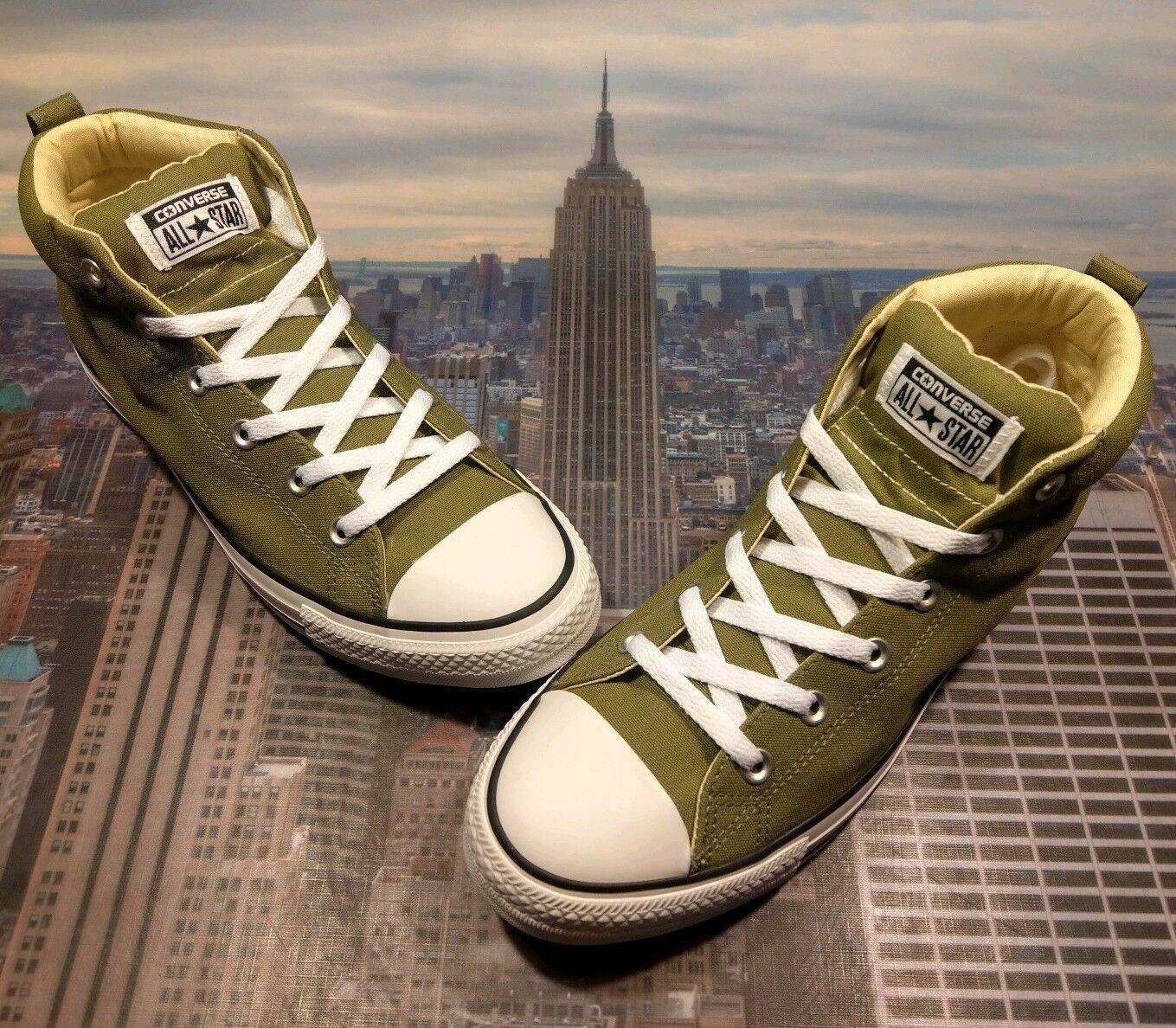 Converse Chuck Taylor tutti estrella Street Mid Top Fatigue verde Dimensione 10 157531F nuovo Sautope classeiche da uomo