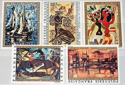 Briefmarken French Polynesia Polynesien 1972 158-62 C89-93 Paintings Gemälde Kunst Art Mnh Australien, Ozean. & Antarktis