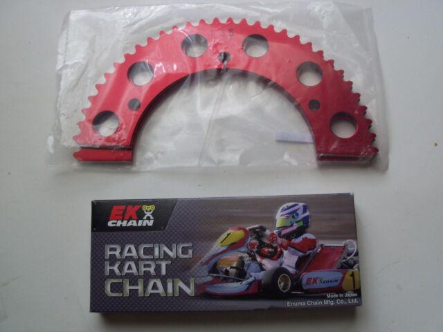 """EK Black Racing Kart Chain, #35 106 link 40"""" and 63T #35 Sprocket"""