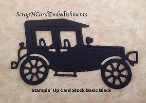 Die-Cuts-039-OLD-CAR-039-x10-Black-Stampin-039-Up-C-S-Cards-Scrapbooking