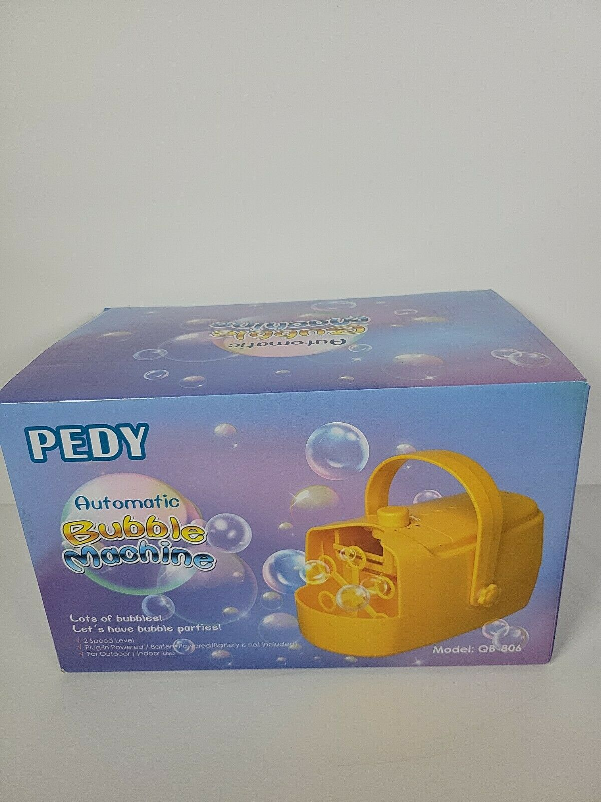 Pedy Automatic Bubble Machine 2 Gears High Output Bubble Maker DJ Party Stage