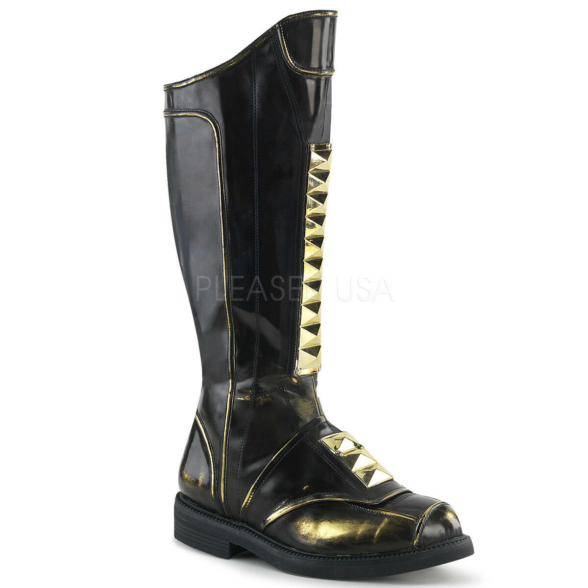 nero oro Steampunk Star Wards Space Pirate Pirate Pirate LARP Uomo Knee High stivali b4e405
