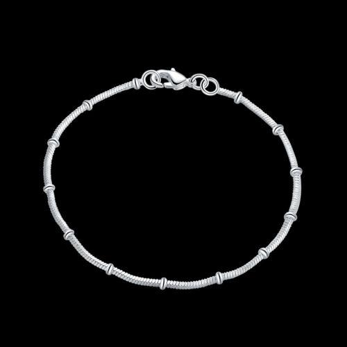 Wholesale 925 Sterling Silver Lovely Burl Chaîne Serpent Femme Bracelet HY564