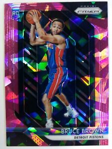 2018-19-Panini-Pink-Cracked-Ice-Prizm-Bruce-Brown-Rookie-RC-132-Refractor