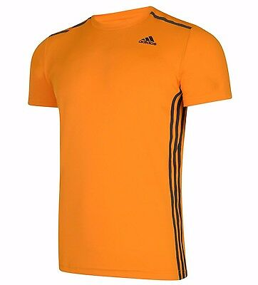 Mens New Adidas Cool 365 Running T Shirt Top Fitness Gym Training Gym Orange | eBay