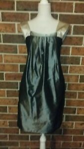 CUE Metallic Shift Dress Size 10