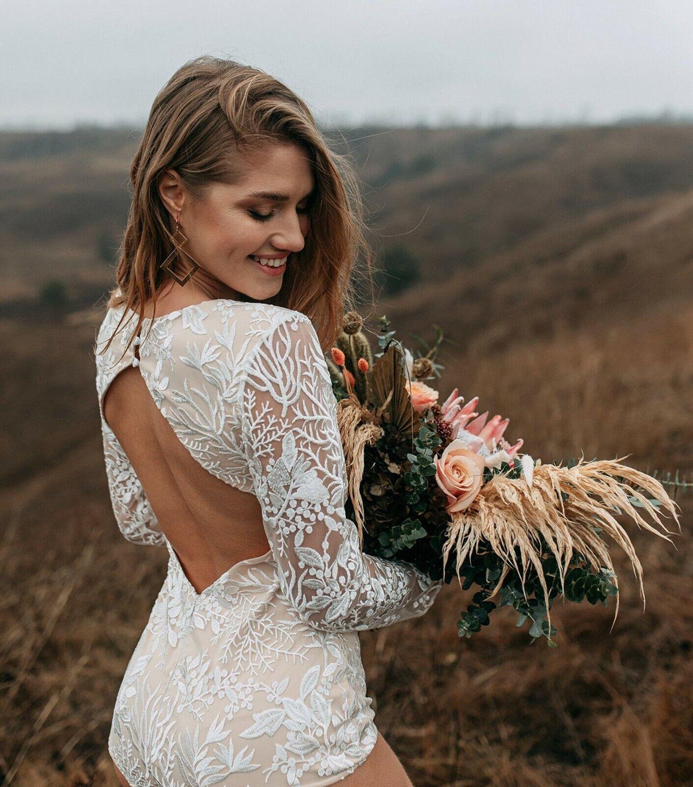 Forest Luna Lace Body Suit, Bridal Bodysuit,Wedding Dress