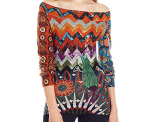 DESIGUAL  PULL-OVER (multicolore , léger ) TAILLE : L  100% coton.