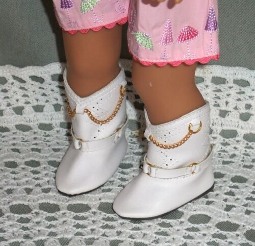 """2 pair!! Two pairs WHITE BOOTS for 16/"""" Terri Lee dolls"""
