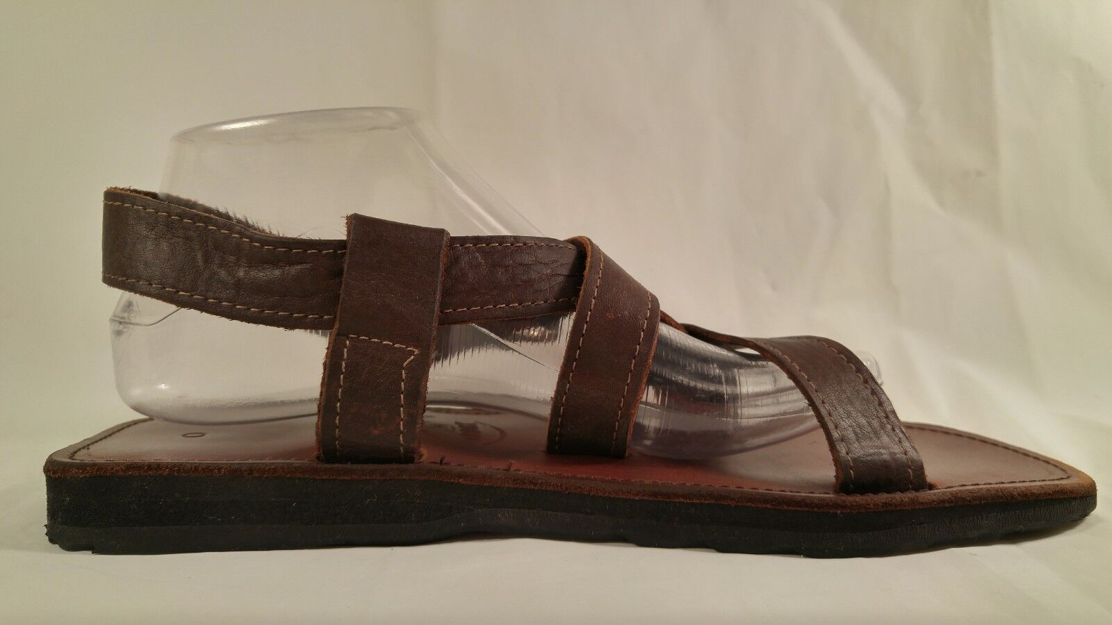 LNC LNC LNC goldx Pedro Brown Leather Handmade Strap Sport Sandal Men 9   Women 10 Apprx bcb2e1