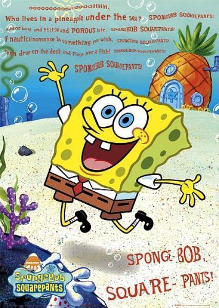 Mini Poster 40cm x 50cm new and sealed Spongebob Squarepants Smelly