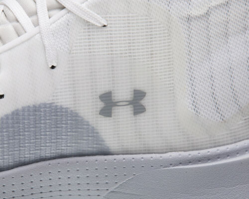 Under Armour Spawn Mid Men/'s White Grey Basketball Sneakers Shoes