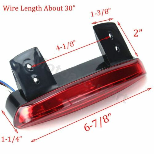 Motorcycle Fender Chopped LED Turn Signal Brake Integrated Tail Light For Harley
