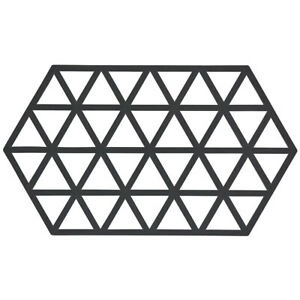 Zone-Silicone-Trivet-Black-Triangles-Pan-Pot-Stand-Hold-Heat-Protection-Surface