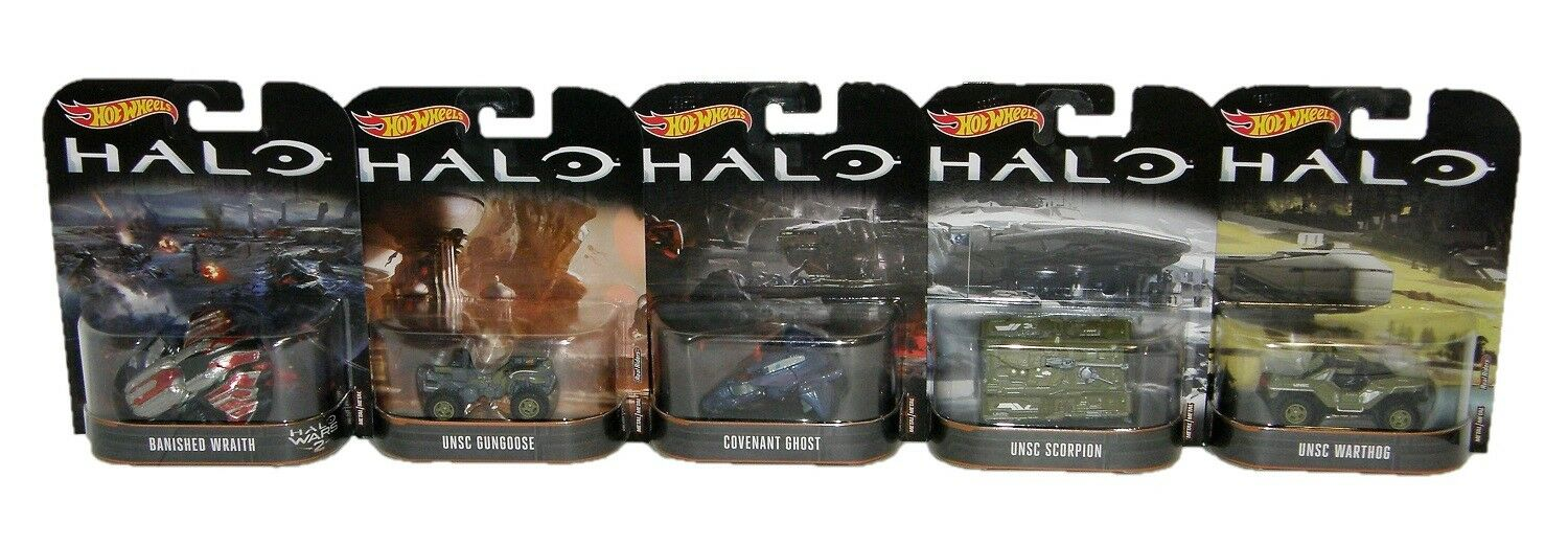 Mattel Hot Wheels HALO 5-Piece Vehicle Set 1 64 Toys and Collectibles Brand New