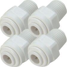 """4 Raccords rapide droit mâle filetage 1/4"""" pour tube-flexible 1/4"""" (6,35mm)"""